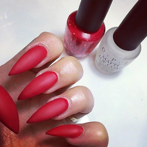 Long-Stiletto-Red-Matte-Nails