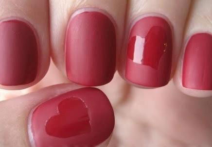 Red-Matte-Nails-with-Hearts