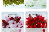 Маски. Mijin Essence Mask: Raspberry, Sea Weed и Herb.